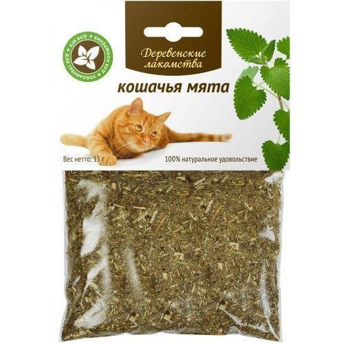 Трава ДЕРЕВЕНСКИЕ ЛАКОМСТВА Кошачья мята 15г