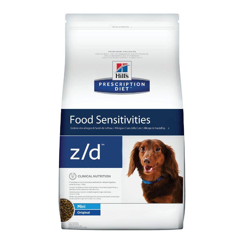 Фото - Корм для собак Hill's Prescription Diet z/d Mini при пищевой аллергии сух.1,5кг корм для собак hill s prescription diet canine z d ultra при пищевой аллергии конс 370г