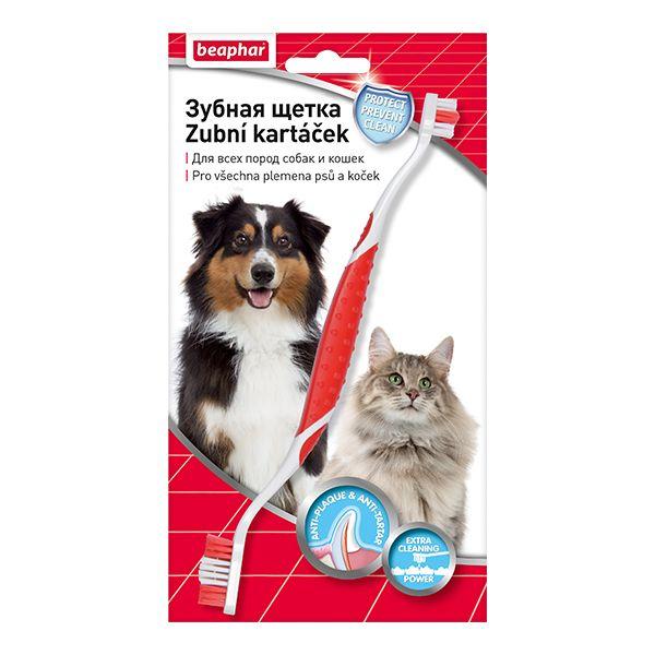 Зубная щетка для собак Beaphar двойная на блистере