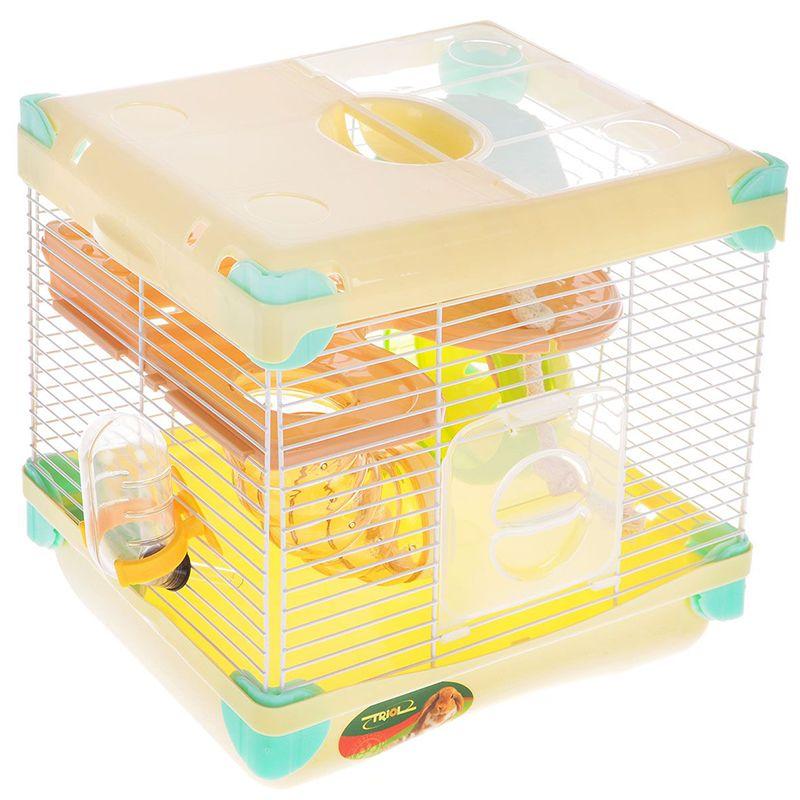Фото - Клетка для мелких животных TRIOL Парк приключений, эмаль 27,5х20,5х42,5см triol triol sy2301 клетка для мелких животных эмаль 600х355х325 мм