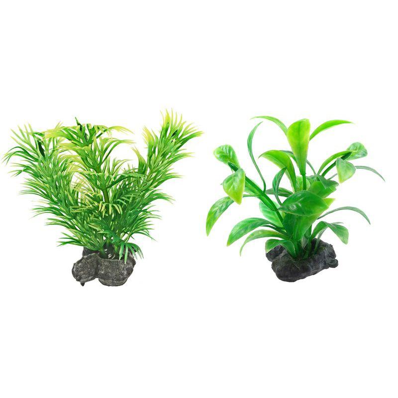 Растение TETRA DecoArt Plant Мини зеленое XS Green 6см (6шт)