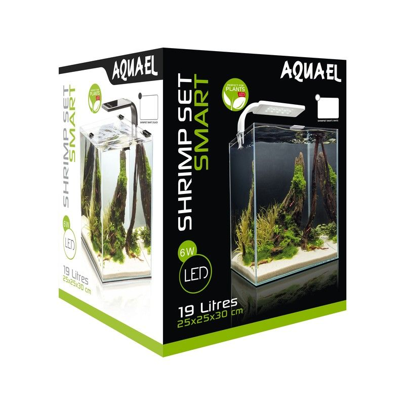 Аквариум AQUAEL SHRIMP SET SMART LED PLANT ll 20 черный (19 л)