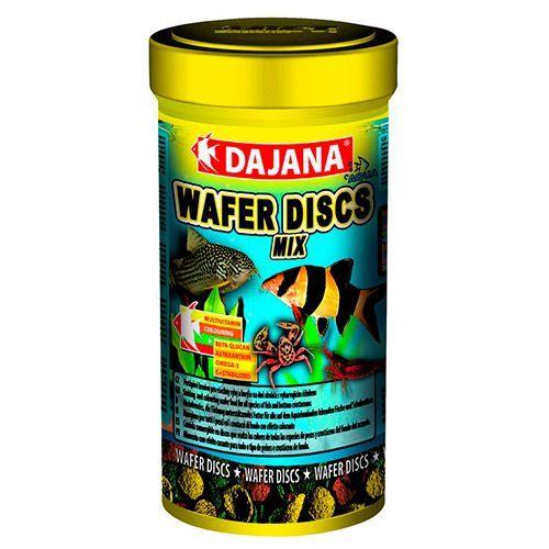 Корм для рыб DAJANA Wafers Discs Mix диски 250мл dajana корм для рыб dajana legend mini granules мини гранулы 100мл
