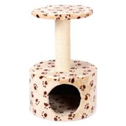 Дом-когтеточка для кошек Foxie Лапы 40х40х60см когтеточка для кошек major домик лапы 30х30х57см коричневый