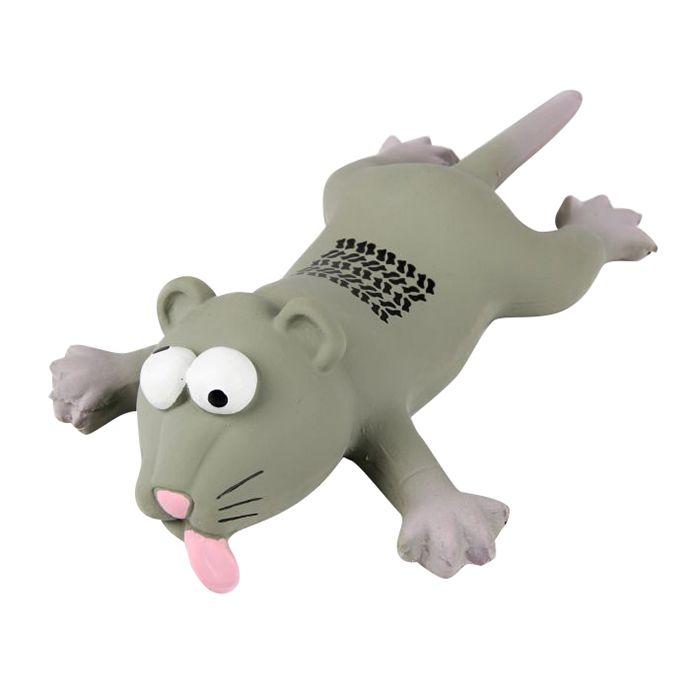 Игрушка для собак MAJOR Крыса с пищалкой 23см латекс