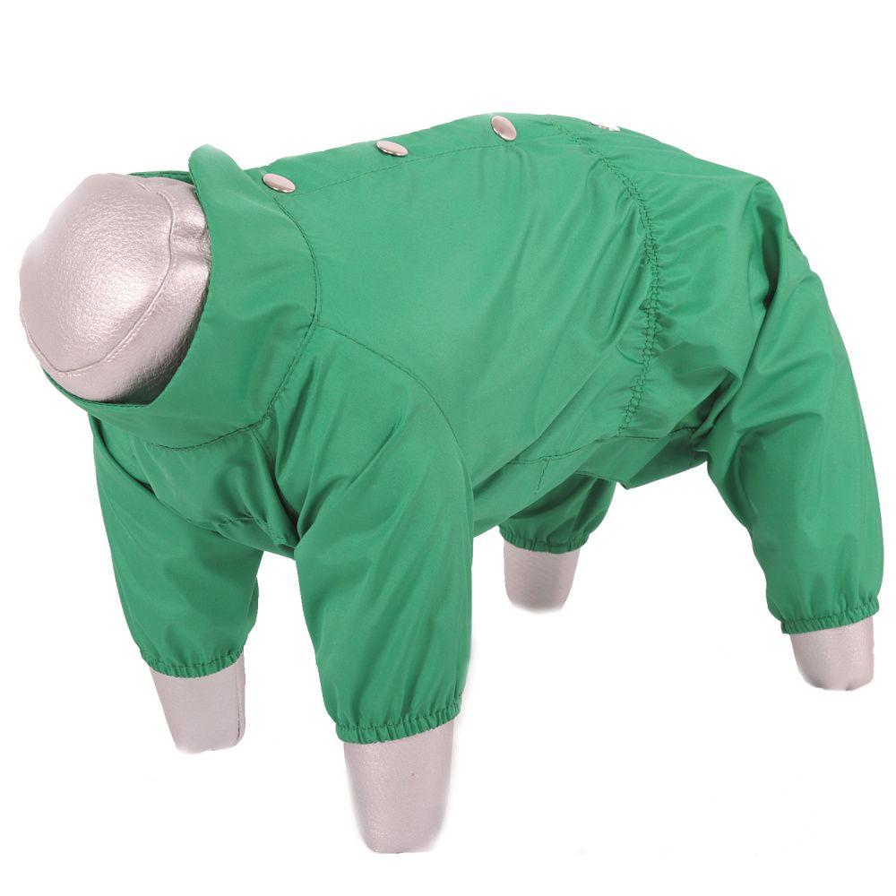 Дождевик для собак YORIKI Зеленое яблоко мальчик р. XL 32см