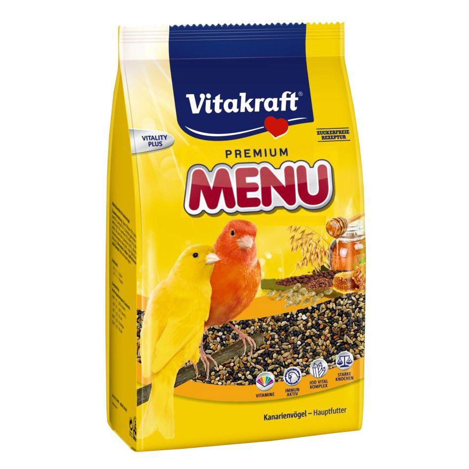 Корм для птиц VITAKRAFT MENU для канареек 500г корм для грызунов vitakraft menu для кроликов сух 500г