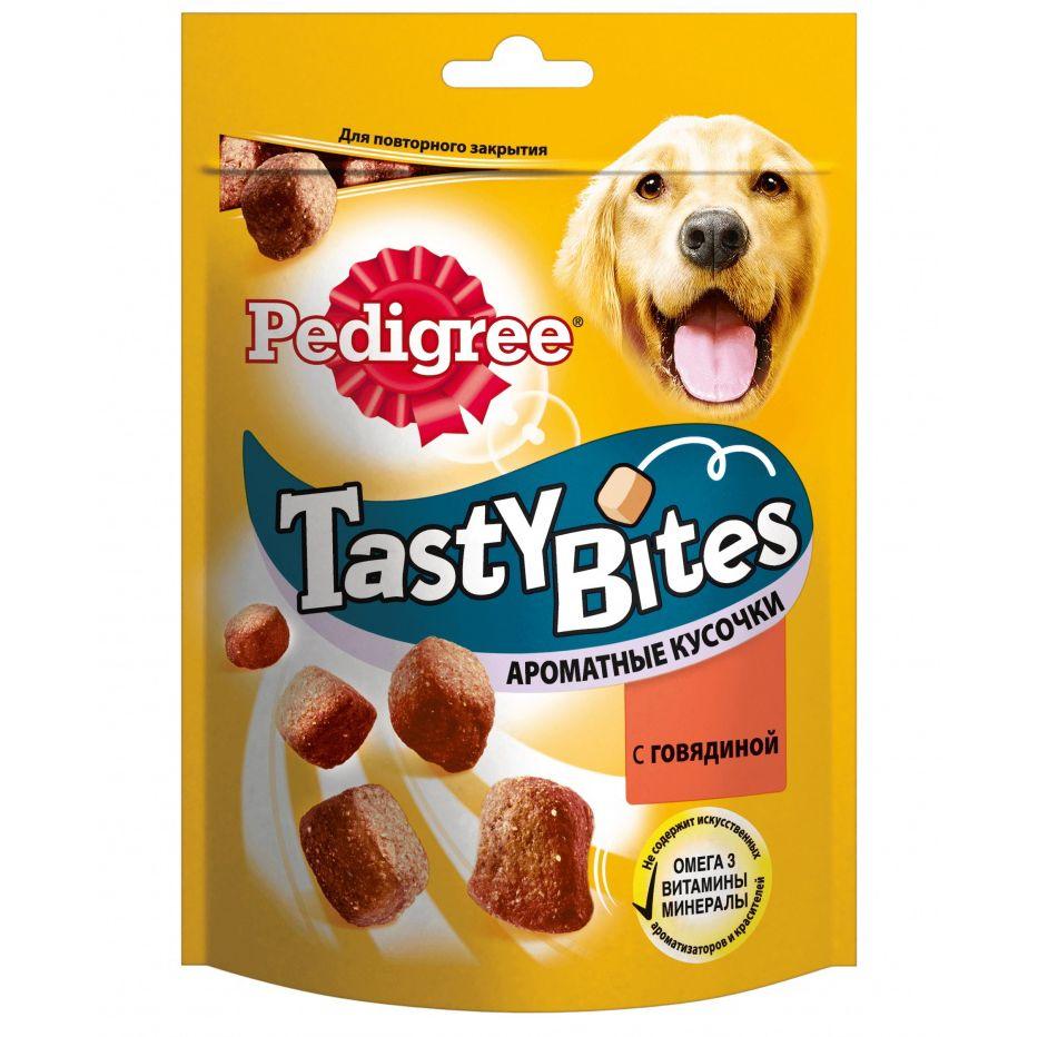 Лакомство для собак Pedigree Ароматные кусочки с говядиной 130г