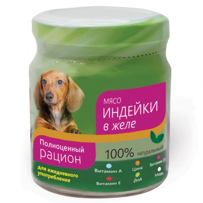 Корм для собак TITBIT Индейка в желе (банка стекло) конс. 100г мюсли titbit fitness для собак 40 г 40 г индейка и брусника