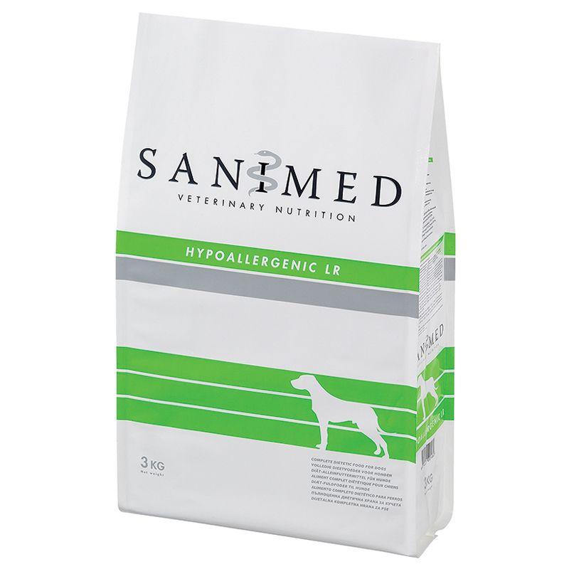 Корм для собак SANIMED dog Hypoallergic LR при пищевой аллергии, ягненок сух. 3кг