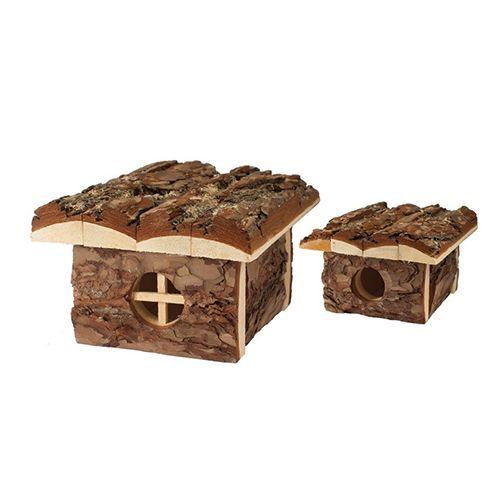 Домик для грызунов ZooM из неокоренного дерева Бунгало 16х19хh10,5см