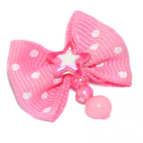 Фото - Бантик V.I.PET (пара) розовый с белым горошком (камень звезда + бусинки) царская приправа перец розовый горошком 250 г