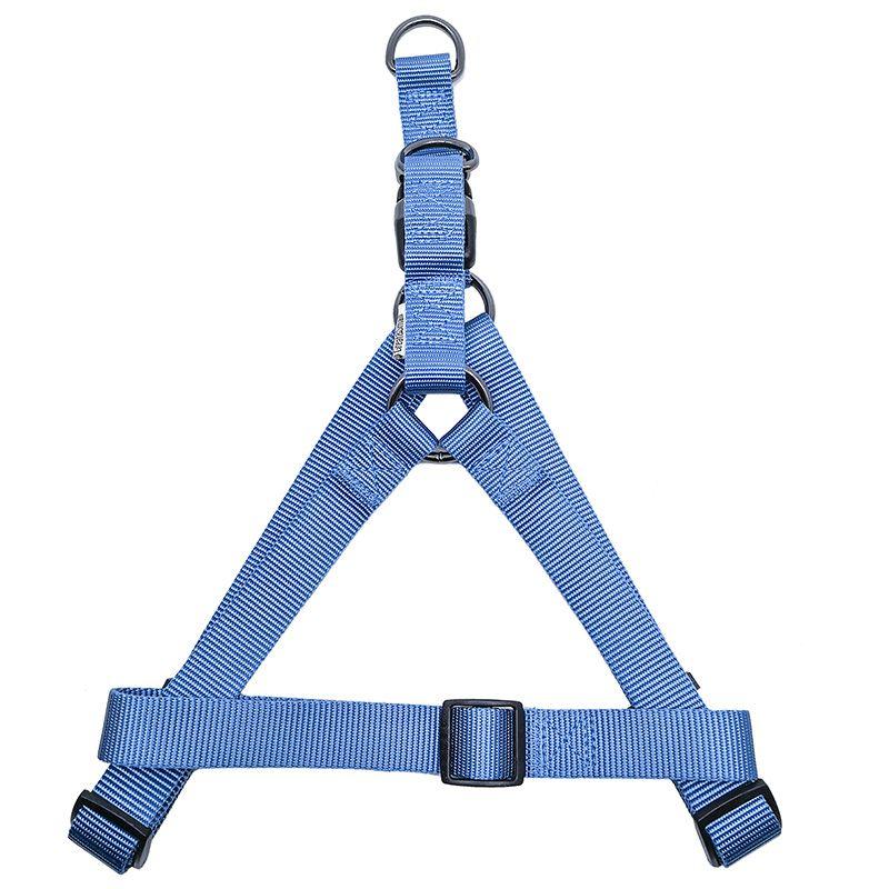 Шлейка для собак Great#and#Small 20мм (обхват 50-65см) голубая