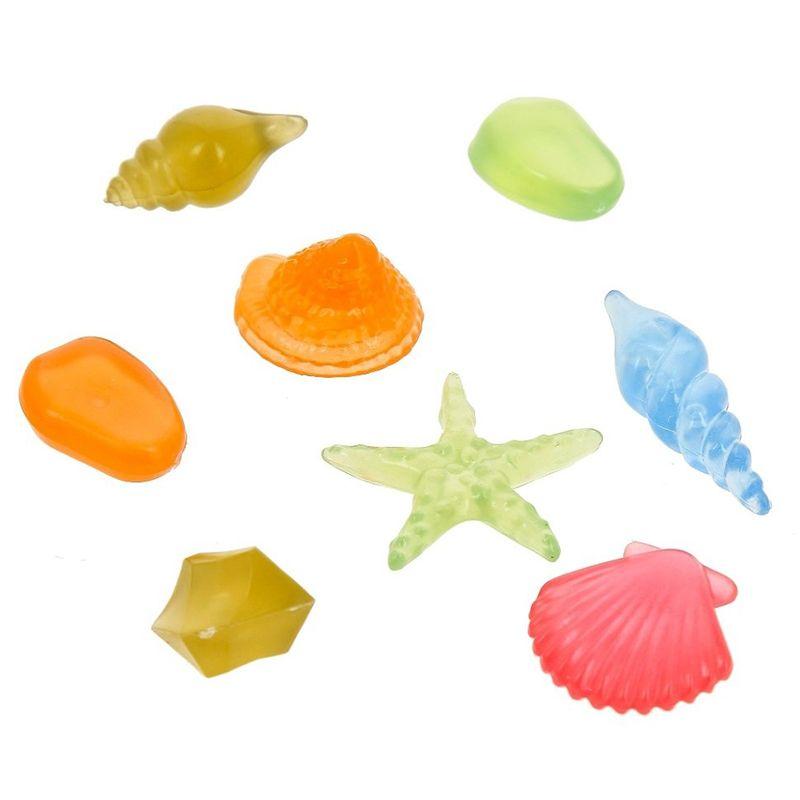 Декор для аквариумов GLOXY Флуоресцентный Набор ракушек 8шт