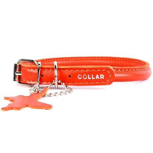 Ошейник для собак COLLAR Glamour круглый для длинношерстных собак 6мм 25-33см оранжевый