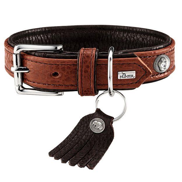 Ошейник для собак HUNTER Cody 50 (37-43см)/2,8 кожа бизона коньячный/темно коричневый gramercy бра cody sconce