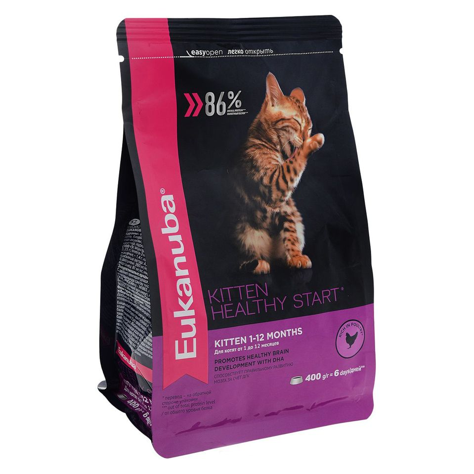 все цены на Корм для котят Eukanuba домашняя птица сух. 2кг онлайн