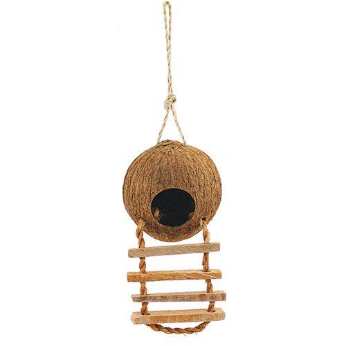 цена на Домик для птиц TRIOL из кокоса с лестницей, 450мм