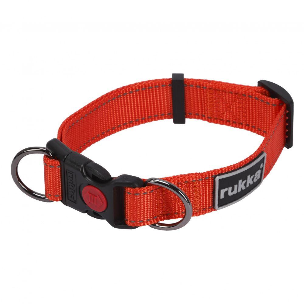Купить со скидкой Ошейник для собак RUKKA Bliss Collar 30мм (45-70см) красный