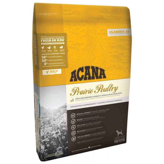 Корм для собак и щенков ACANA Prairie Poultry для всех пород курица, индейка, резаный овес сух. 6кг от Бетховен