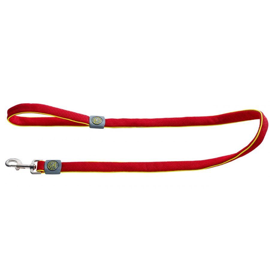 цены Поводок для собак HUNTER Maui 20/140 сетчатый текстиль красный
