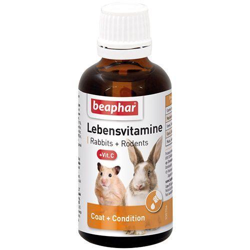 Витамины для грызунов Beaphar Lebensvitamine 50мл цена