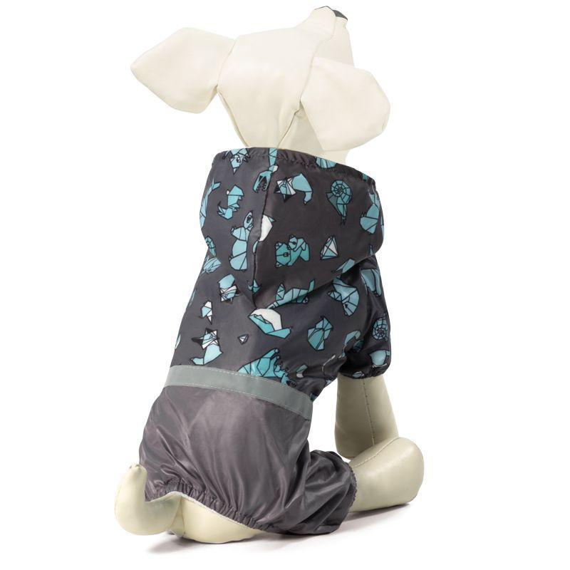 Костюм-дождевик для собак TRIOL со светоотражающей лентой Оригами L, голубой, размер 35см костюм для собак major тельняшка 35см