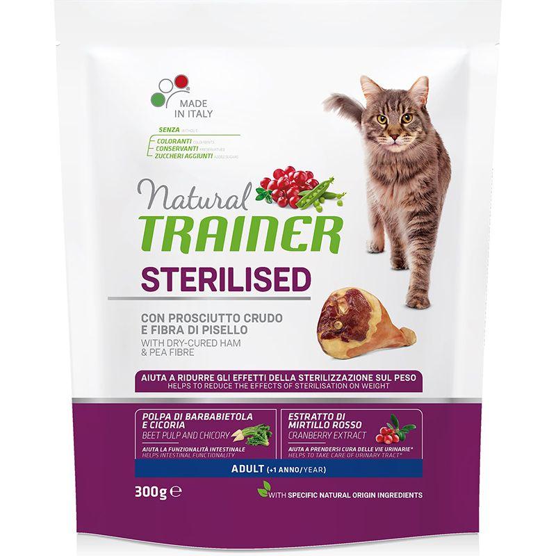 цена Корм для кошек TRAINER Natural Adult Sterilised для стерилизованных, с беконом онлайн в 2017 году