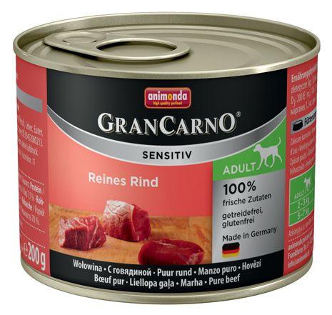 Корм для собак Animonda Gran Carno Sensitiv c говядиной конс. 200г корм для котят animonda carny kitten говядина сердце индейки конс 200г