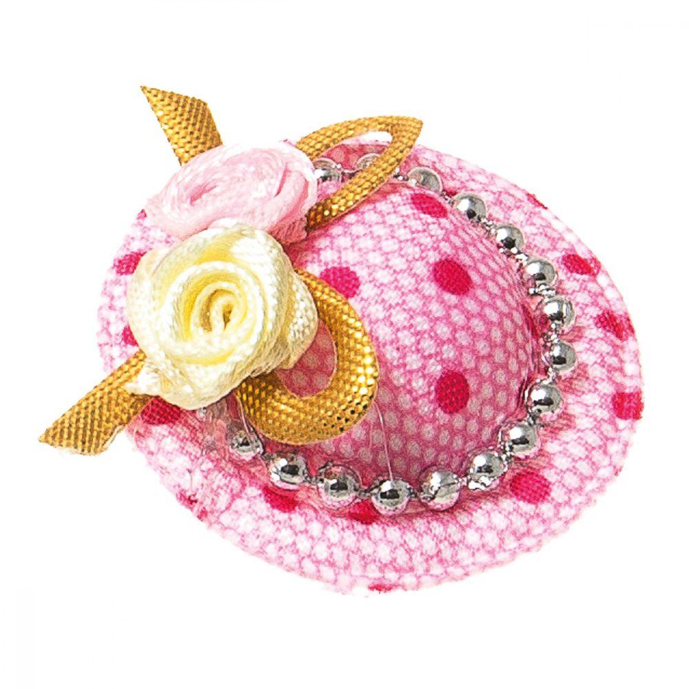 цена на Заколка-шляпка V.I.PET Ностальжи 3,5см розовая