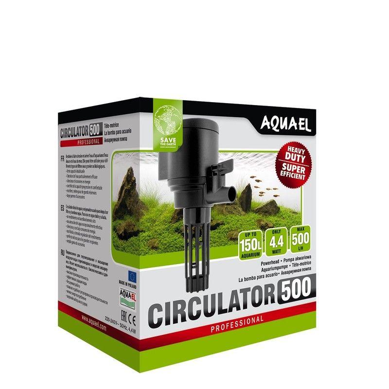 Фото - Помпа погружная AQUAEL CIRCULATOR 500 для аквариума до 150 л (500 л/ч, 4.4 Вт, h = 70 см) внутренний фильтр aquael fan filter 3 plus для аквариума 150 250 л 700 л ч 12 вт