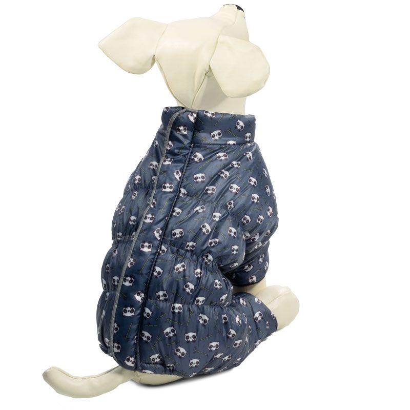 Комбинезон для собак TRIOL зимний с молнией на спине Панда S, размер 25см