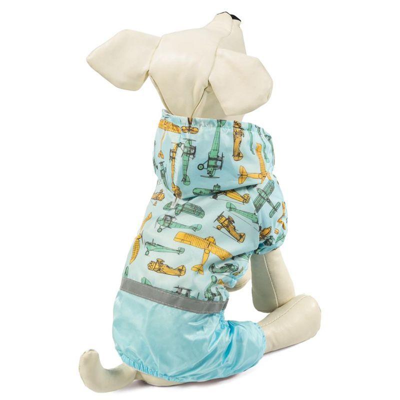 Костюм-дождевик для собак TRIOL со светоотражающей лентой Самолеты L, размер 35см костюм для собак major тельняшка 35см