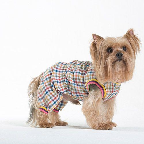 Комбинезон для собак YORIKI Клетчатый унисекс размер S цены онлайн