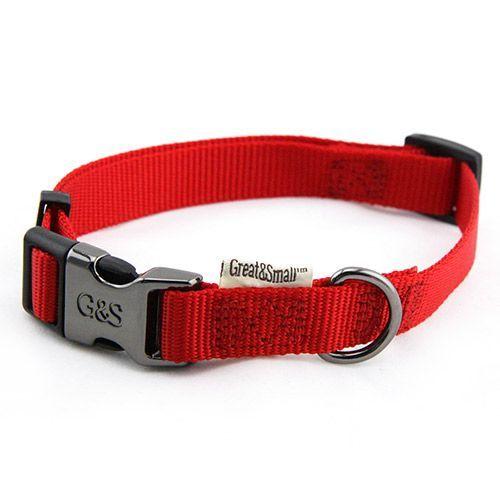 Ошейник для собак Great&Small 15x300-450мм нейлон Красный фото