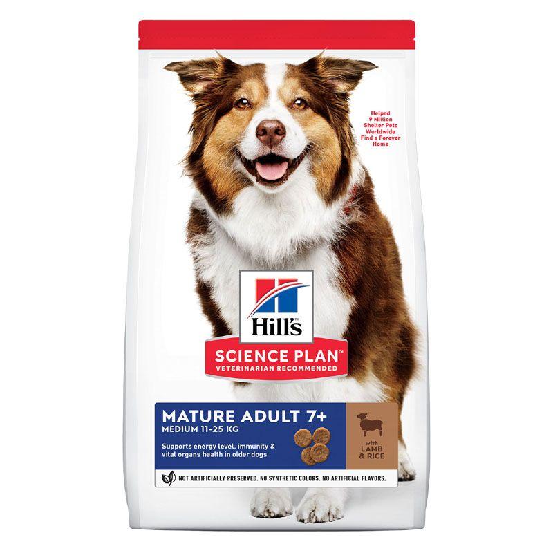 Фото - Корм для собак Hill's Science Plan от 7 лет ягненок, рис сух. 12кг корм для собак hill s science plan для крупных пород от 25кг курица сух 12кг