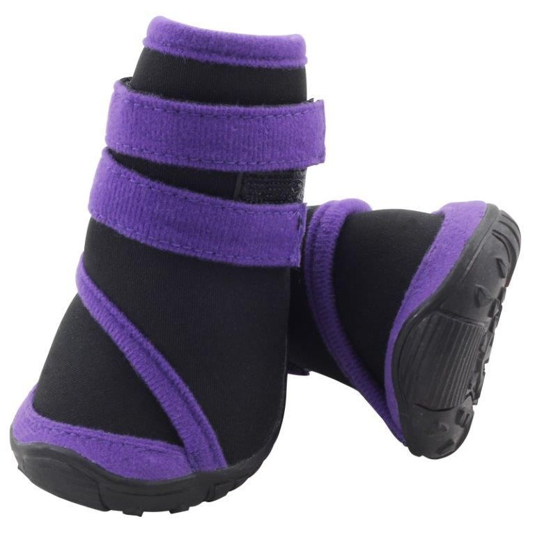 Ботинки для собак TRIOL черные с фиолетовым 55х50х65мм