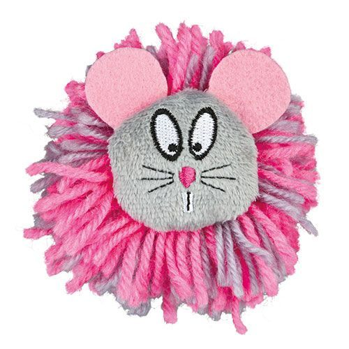 Игрушка для кошек TRIXIE Помпон-мышь плюш 8см
