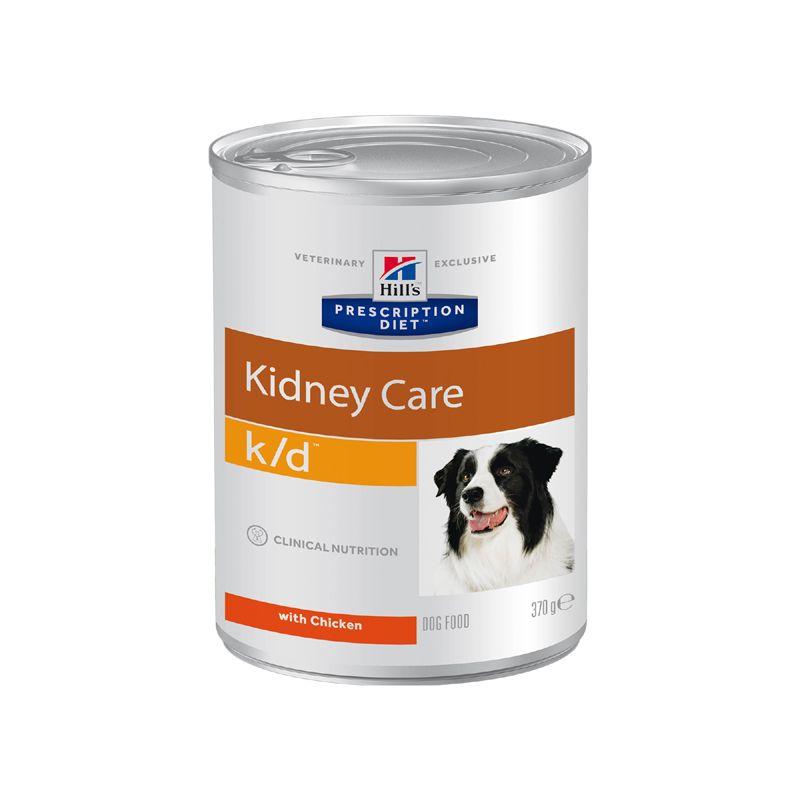 Фото - Корм для собак Hill's Prescription Diet Canine K/D при заболевании почек, курица банка 370г корм для собак hill s prescription diet canine z d ultra при пищевой аллергии конс 370г