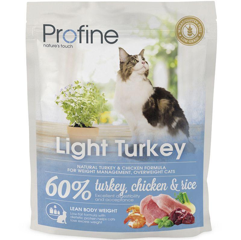 Корм для кошек PROFINE Light при избыточном весе индейка, курица сух. 300г фото