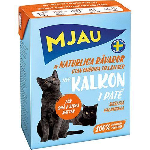 Корм для кошек MJAU мясной паштет с индейкой конс.