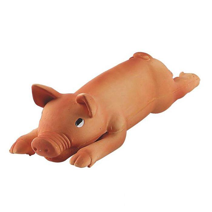 Игрушка для собак MAJOR Поросенок с пищалкой 38х12х9см латекс