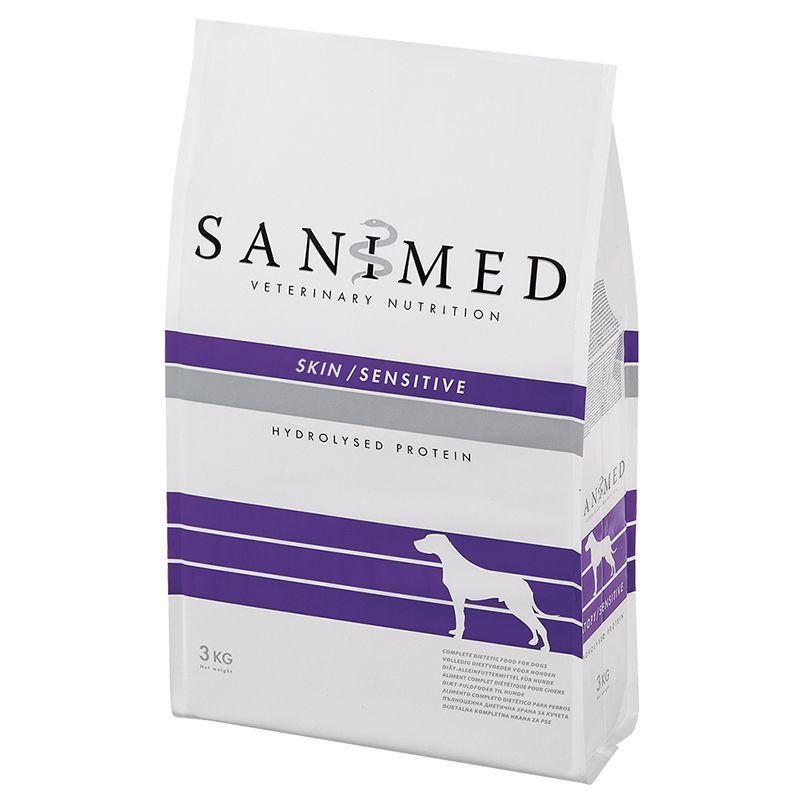Корм для собак SANIMED dog Skin/Sensitive при пищ. аллергиях корм для собак sanimed dog skin sensitive при пищевой аллергии сух 12 5кг
