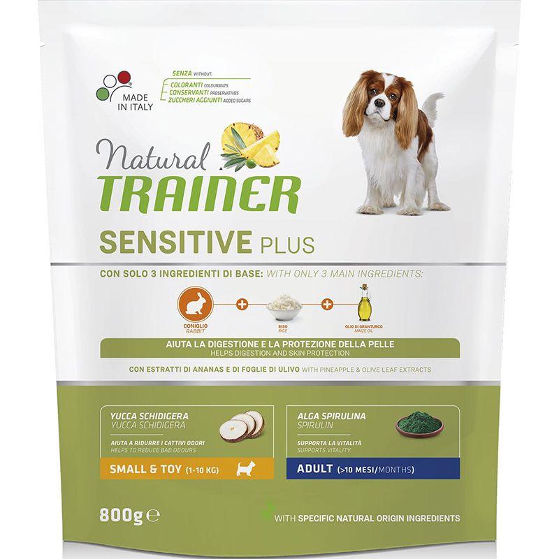 Корм для собак TRAINER Nat.Sensitive Plus для мелких пород кролик сух. 800г корм для собак winner для мелких пород говядина сух 800г