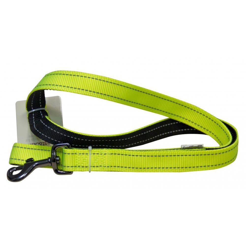Поводок для собак Great&Small со светоотражающей отстрочкой 25х1200мм сигнальный цены онлайн