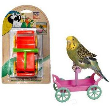 Игрушка для птиц PENN-PLAX ВА536 Тележка с жердочкой игрушка для птиц penn plax ba539 игровая площадка
