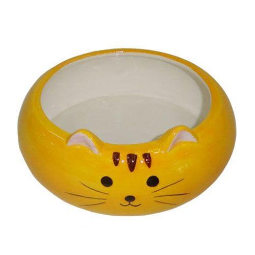 Миска для животных Foxie Kitten оранжевая керамическая 12,5х5,5см 280мл