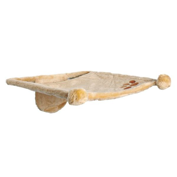 Лежак для кошки TRIXIE с креплением на стену 42 х 41 см, бежевый, плюш