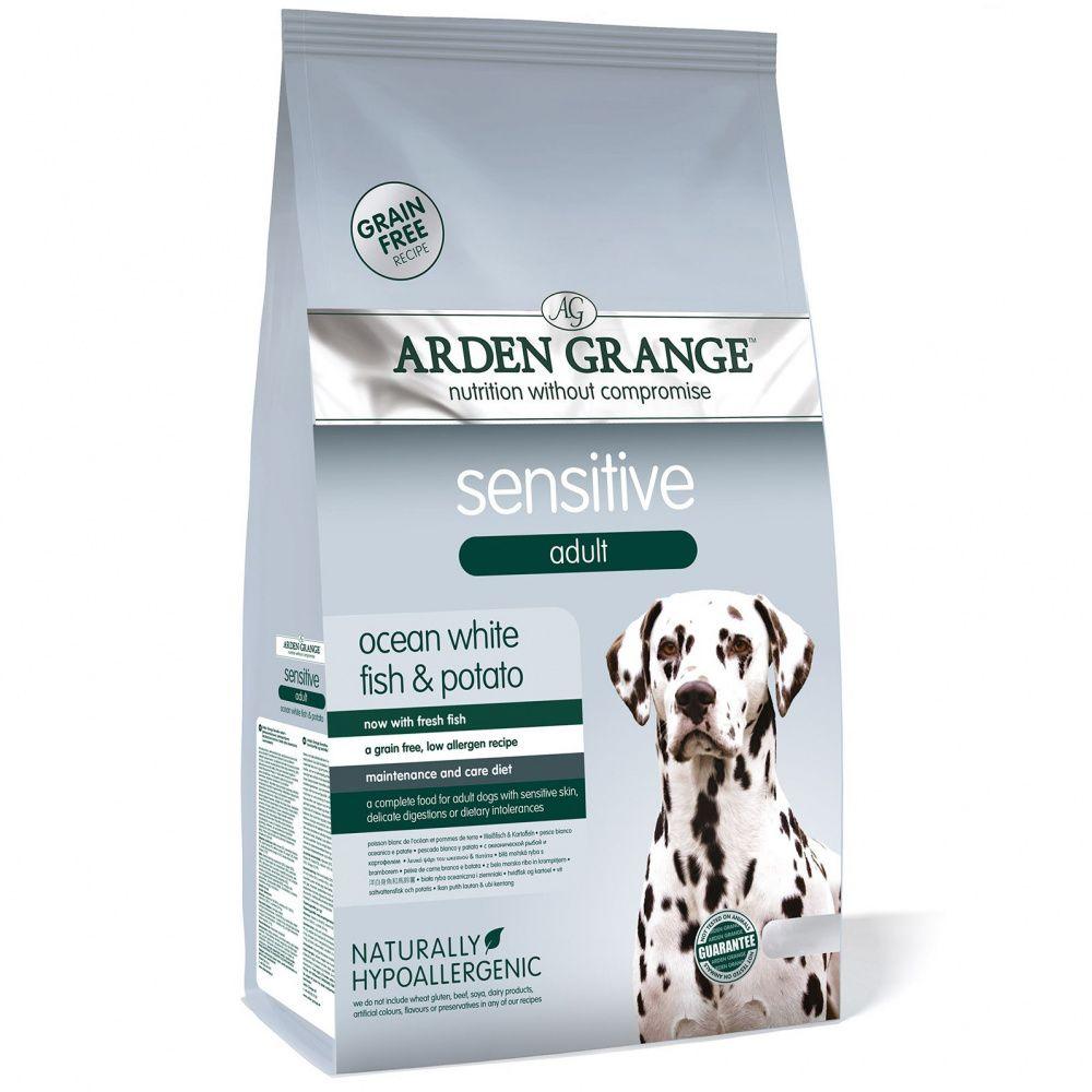 Корм для собак ARDEN GRANGE Sensitive с деликатным желудком и чувствительной кожей сух. 6кг корм сухой arden grange беззерновой для взрослых кошек с деликатным желудком и или чувствительной кожей 0 4 кг