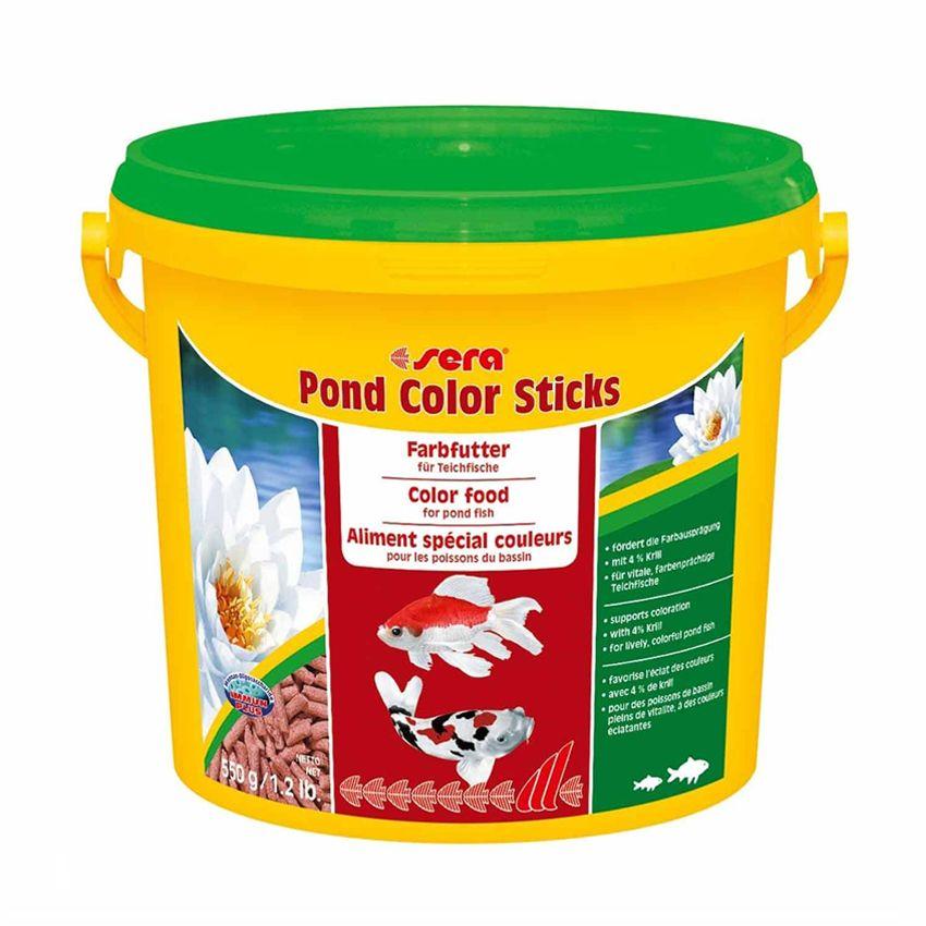 Корм для рыб SERA прудовых Color Sticks 3,8л (550г) ведро